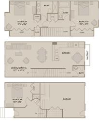 3 bed 2.5 Bath 1466 square feet floor plan E